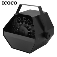 ICOCO Automatic Mini Magic Bubble Making Machine Blower Maker Kids DJ Disco Dancing Wedding Party Outdoor Indoor Stage Lamp