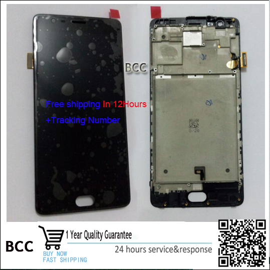 For Oneplus three Full LCD DIsplay+Touch Screen Digitizer with frame For Oneplus 3 1+ 3 a3000 a3003 Original New ,100% Test Ok
