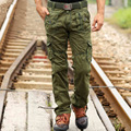 Men's Casual Cargo Pants 2016  Mens Military Cargo Pants Multi-pockets Baggy Men Pants Casual Trousers Overalls Army Pants