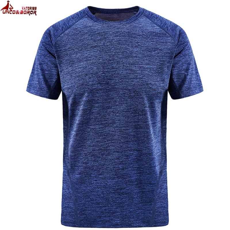 UNCO&BOROR plus size 7XL 8XL women and men soild color quick dry Breathable   t     shirt   outwear sporting Tourism Mountain tops&tees