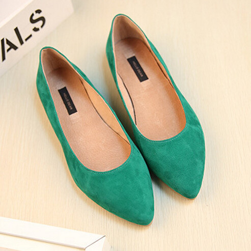 Genuine Leather Flats Womens Shoes Sheepskin Shoes Woman Ballet Flats Fashion Casual Shoes Suede Flats Leather Loafers C-816