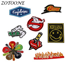 Iron on Letters Ghostbusters Punk Applique Embroidery Flower Patches Clothes Decoration for Clothing Croatia Pride