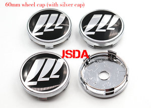Image 3 - 4pcs 56mm 60mm Lifan Car logo Wheel Center Cap rim Badge dust proof covers Creative decoration emblem sticker styling