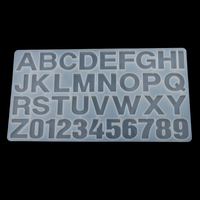 Silicone Letter Number Mold Clear Jewelry Casting Craft Mould For Resin Epoxy Making