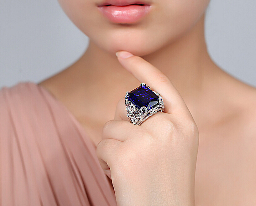t gold modern blue wedding solitaire product crown sapphire renaissance ring carat white