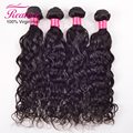 Onda natural brasileiro virgem cabelo molhado e ondulado virgem brasileiro do cabelo weave bundles curly weave do cabelo humano feixes de cabelo remy