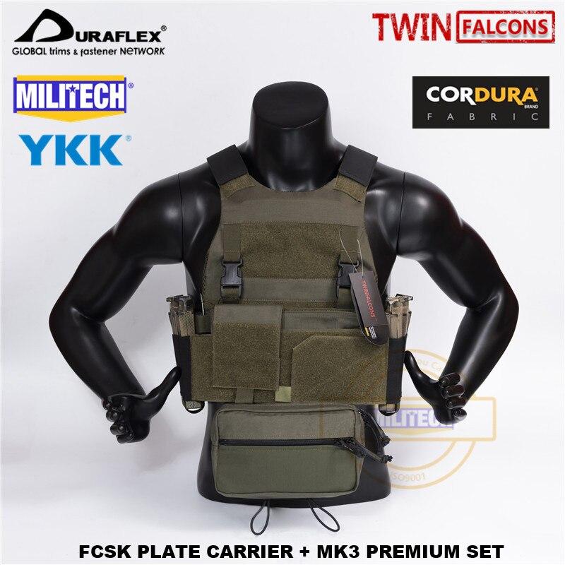 MILITECH TW FCSK RG CQC MOLLE MK3 Chest Rig Premium Set Military Combat Assault Tactical Vest Police Body Armor Plate Carrier