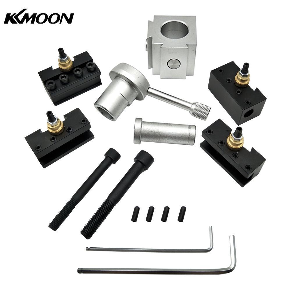 KKmoon Mini CNC Lathe Tool Holder Quick Change Tool Post Cutter Holder Screw Kit Set Boring