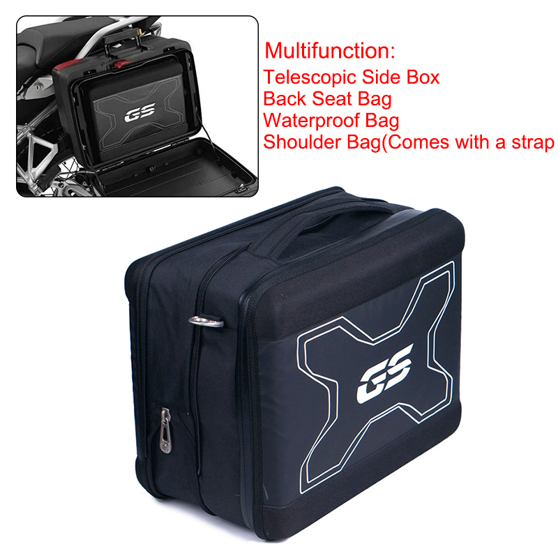 R1200GS F700 F800 GS R 1200 GS Telescopic Side Tool Box Back Seat Bag Saddle Bag Suitcases Luggage For BMW F750GS F850GS