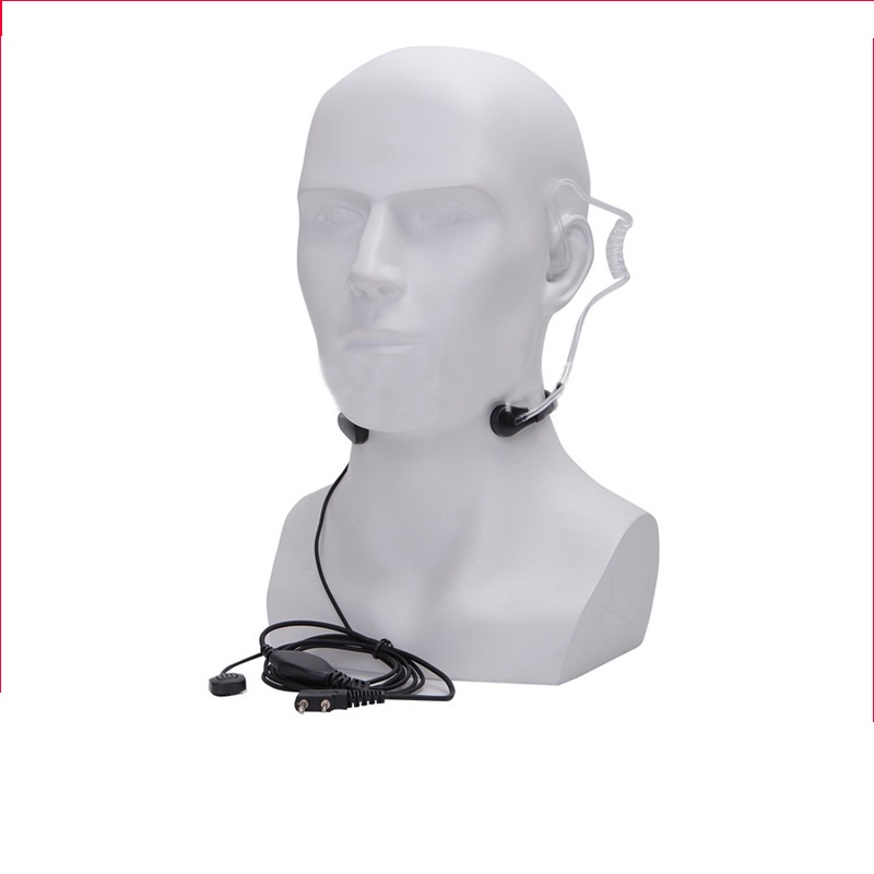 BAOFENG PTT Throat Headset Headphone Microphone Mic Earpiece Headset for Walkie Talkie UV-5R UV-5RE Outdoor Activity Equipment