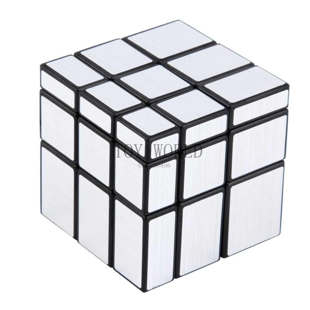 Hot 3x3x3 Mirror Blocks Silver Shiny Magic Cube Puzzle Brain Teaser IQ Kid Funny cubo magico Cubiks Juguetes Educativo