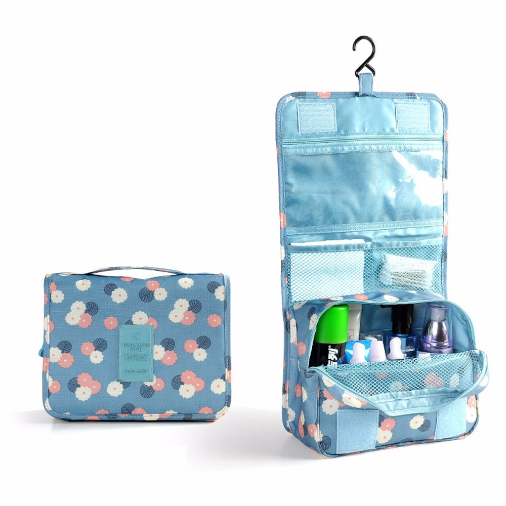 Pockettrip Hanging Toiletry Kit Clear Travel BAG Cosmetic Carry Case Toiletry Organizer Women Cosmetic Cases Outdoor. Hanging Bathroom Travel Organizer