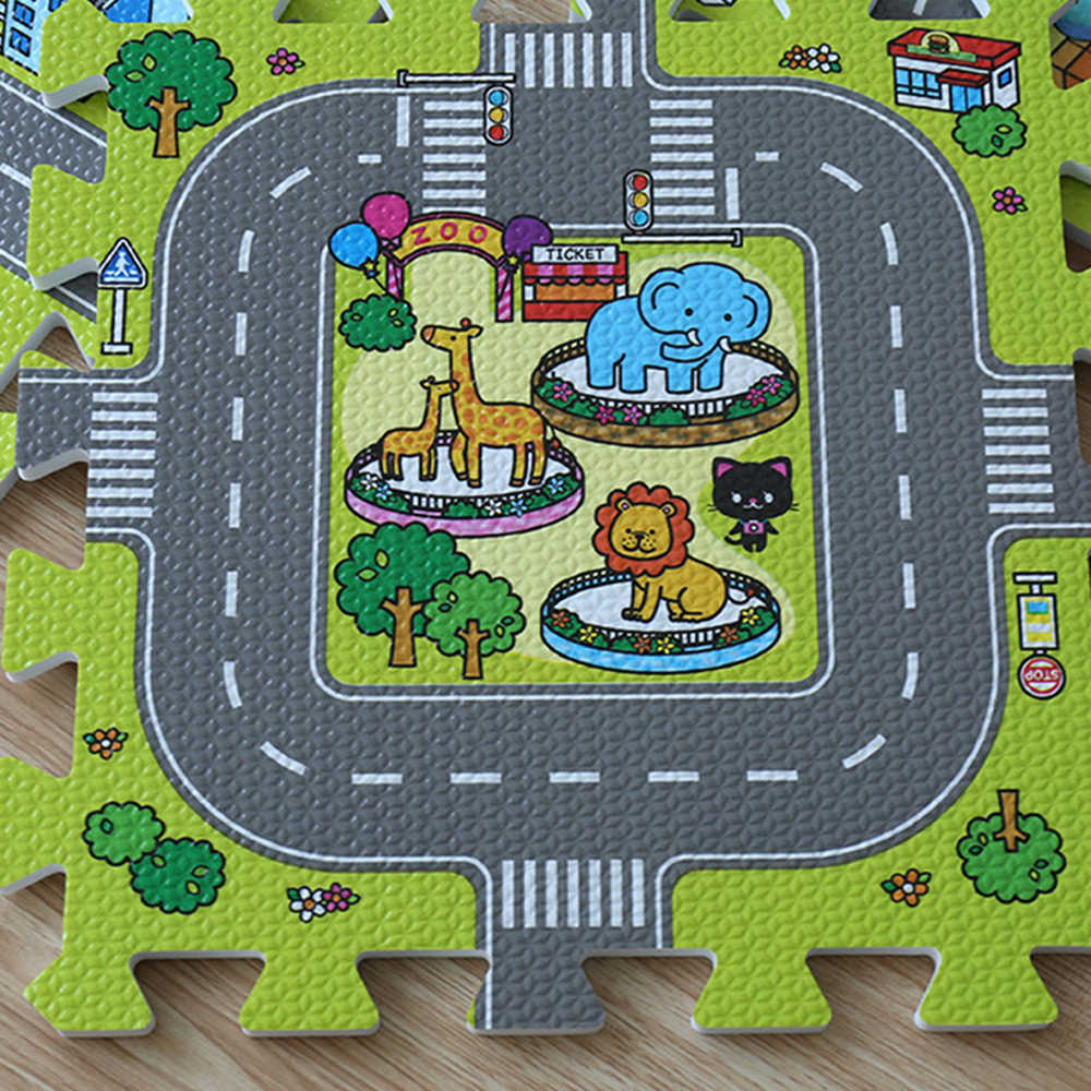 Детский мягкий коврик для развития подвижности коврик для детей игровой пазл Мультфильм Мат из поролона «Ева» коврик Детский ковер для спортивного зала в детскую