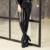 Inverno Mulheres Quentes Calças de Fundo Feminino PU de Couro Calças Lápis Elástica calças Skinny Além de calças camadas Moda calças Apertadas das Mulheres