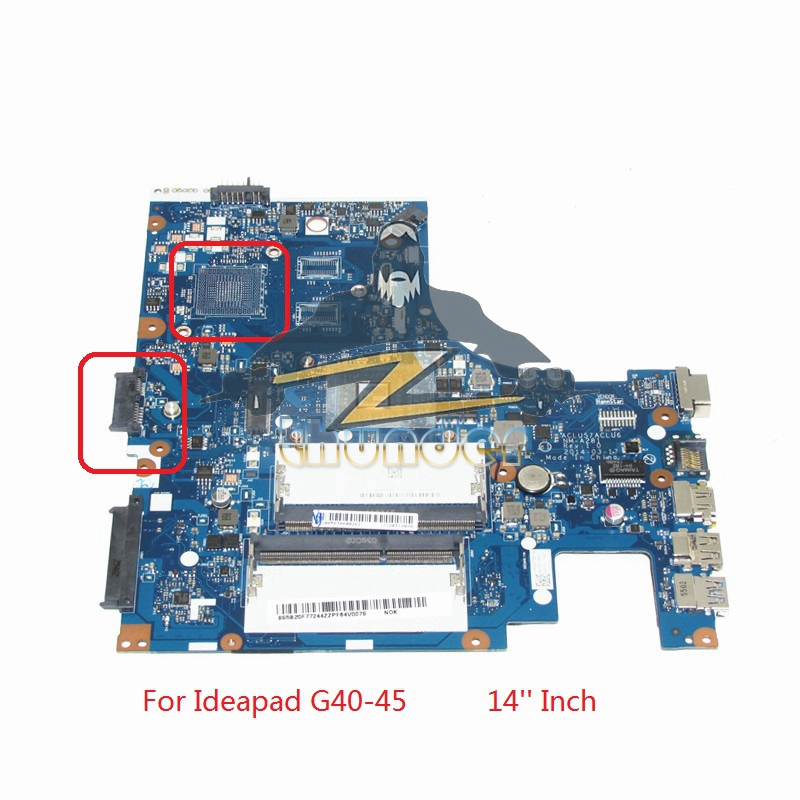 NOKOTION New ACLU5 ACLU6 NM-A281 Laptop Motherboard For Lenovo ideapad G40-45 Main board 14 Inch E1-6010 CPU DDR3 все цены