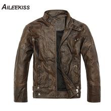 2019 New Arrived Brand Men Black Motocycle Leather Jacket Streetwear Jaqueta Masculina Couro Bomber Coat Fur Mens Fashions XT642