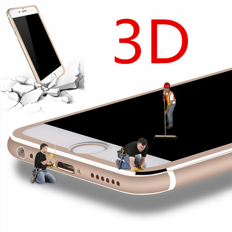 100pcs For font b iphone b font 7 7plus 5 5 3D Aluminum alloy Full cover
