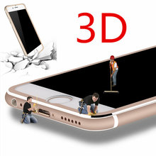 100pcs For iphone 7 7plus 5.5″ 3D Aluminum alloy Full cover screen coverage tempered glass protector Curved Edge protective film