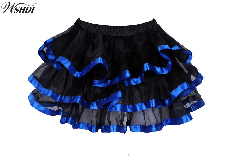 Sexy Tutu Skirts Fluffy Ruffles Multilayer Pettiskirt Tulle Mini Skirt Party Skirt Ball Gown Pettiskirt Showgirl Dance Skirt