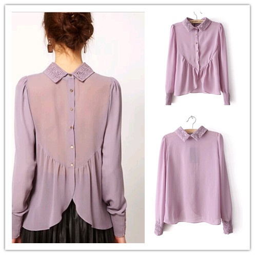Online Get Cheap Purple Chiffon Tops -Aliexpress.com | Alibaba Group