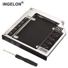 Ingelon SSD HDD Caddy 12,7 мм алюминиевый 2-й жесткий диск Caddy чехол адаптер для универсального ноутбука CD/DVD-ROM оптический адаптер
