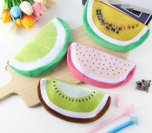 New 4Colors, 21CM approx. All Fruit Plush purse , keychain plush fruit coin bag , plush pouch(China)