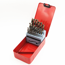 New High Standard 25Pcs/set M35 Twist Drill Bit Set Power Tools Hand Tool Accessory HSS-co Stainless Steel drilling