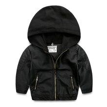 Мальчики меха весной и осенью период и новый Детские куртки с капюшоном Детская шутник молния без подкладки верхней одежды
