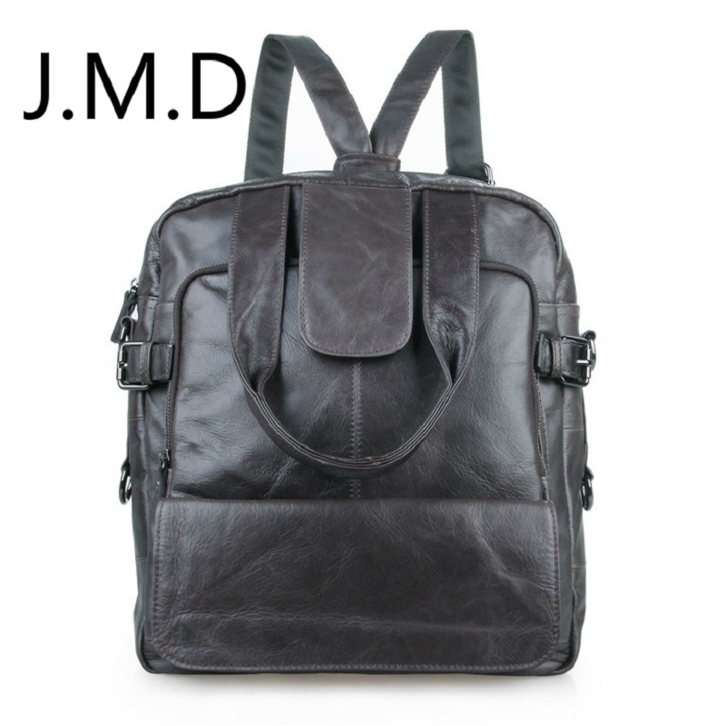 J.M.D 2018 New Arrival 100% Classic Leather Travel Bags Cowboy Genuine Leather Men's Trendy Backpacks Shoulder Bag 7065 247 classic leather