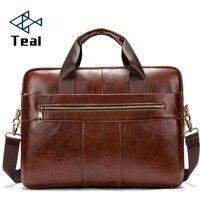 2019 мужская сумка портфель мужская сумка из натуральной кожи для ноутбука деловая сумка тоут для черного офиса Портативная сумка на плечо дл
