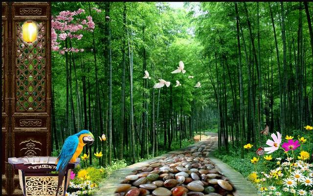 Us 3698 Customize 3d Wall Murals Bamboo Forest Trail 3d Stereoscopic Wallpaper For Living Room 3d Wallpapers For Wall In Wallpapers From Home