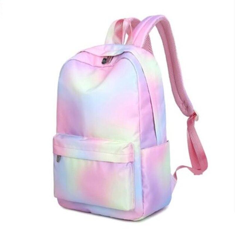 Backpack Vintage College School Bag  Backpack For Teenage Girl Women's Natural PU Backpack
