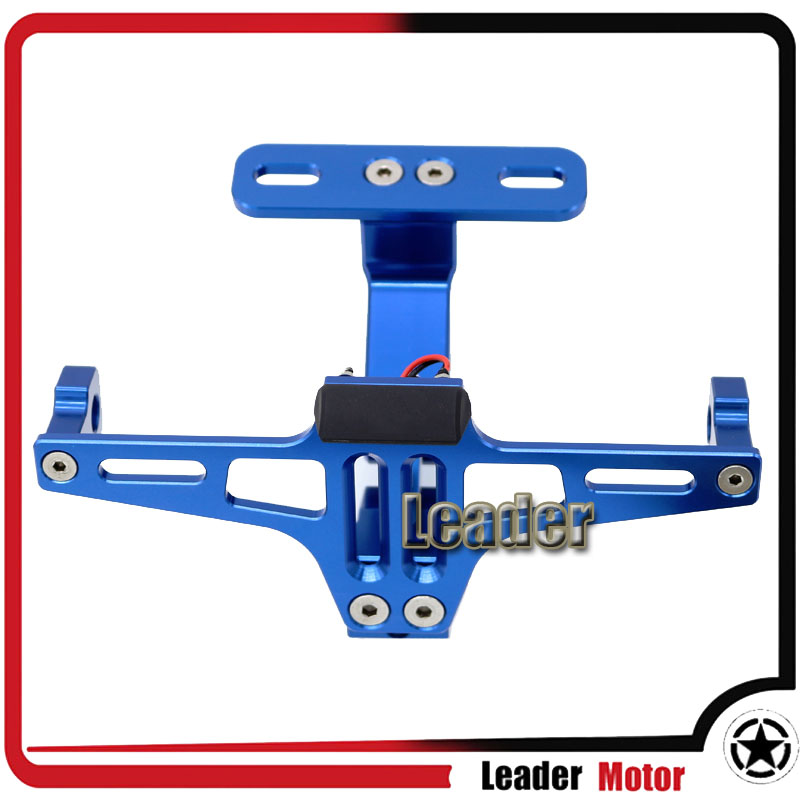 Universal For YAMAHA MT-01 MT-03 MT-07 MT-09/MT-09 Tracer MT-10 Adjustable Angle License Number Plate Frame Holder Bracket Blue цена