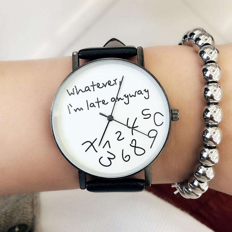 Nuevo reloj Casual 2018 Popular para mujer, Relojes de Cuero de lujo para mujer, reloj de pulsera deportivo de cuarzo, reloj femenino simple, horas negro