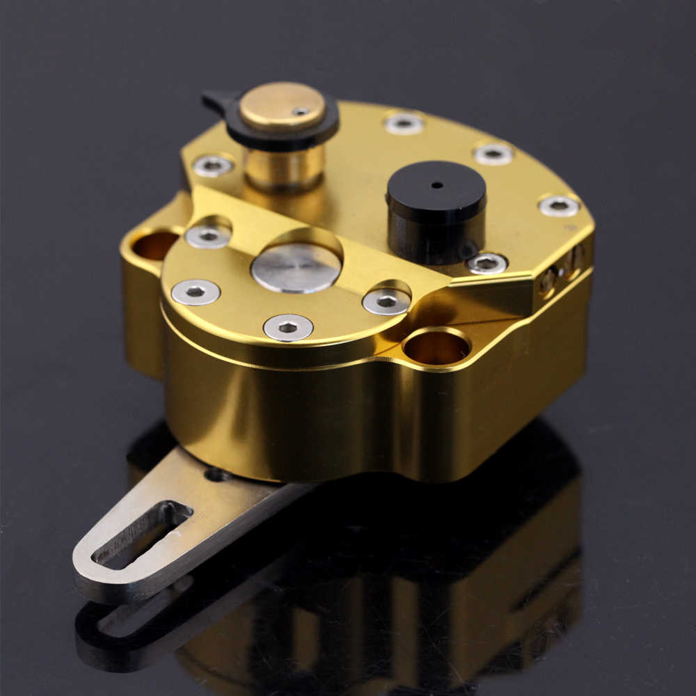 Universal Motorcycle CNC Adjustable Steering Damper Stabilizer Top GOLD