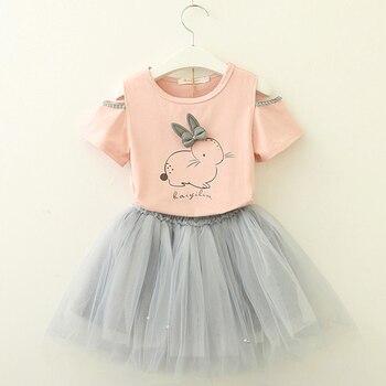 Cartoon Kitten Dress For Girls 4