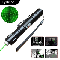 100 Brand New High Power 532nm Green Laser Pointer Pen Visible Beam Light Star Cap Set