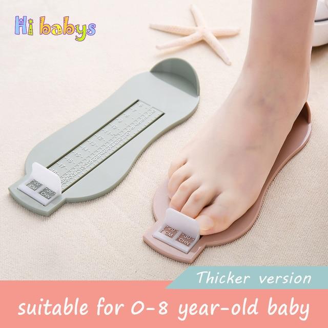 Bebé niños pie medida herramienta zapatos tamaño Regla de medición niños hogar Guage escala Prop infantes zapatos ajuste 0-8Y adecuado