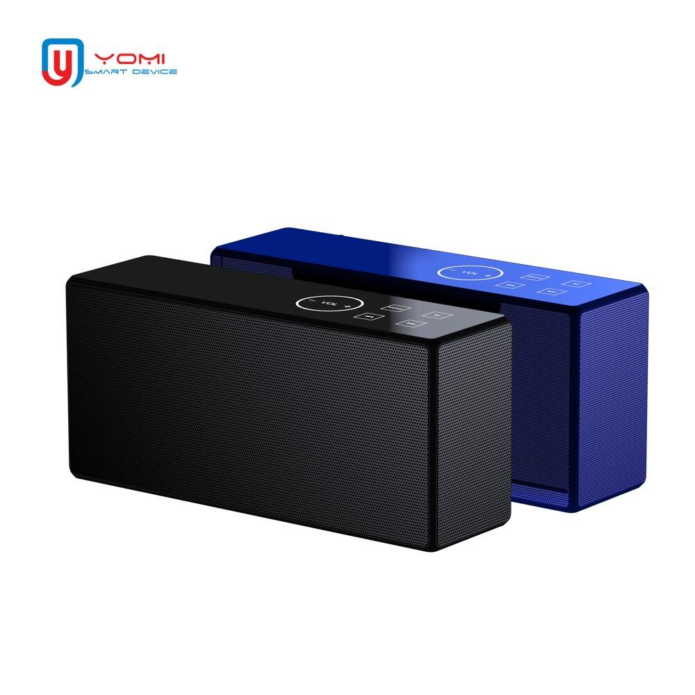 Bluetooth Haut-Parleur Sans Fil Bluetooth Haut-Parleur En Métal Portable Sound Box avec Mic TF Carte FM Radio AUX MP3 Musique Jouer Haut-parleurs