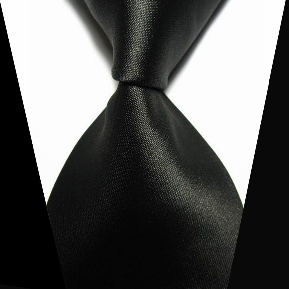 Solid Black Men Tie Elegant