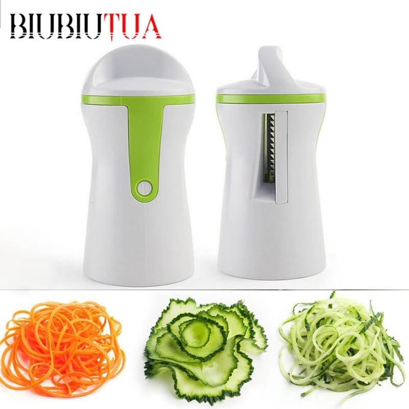 BIUBIUTUA Creativo Fruta Rallador de Verduras Cocina Gadget de Embudo Espiral Co