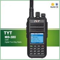 Новая версия TYT MD 380 VHF DMR цифровое двухстороннее портативное радио MD380 с кабелем и программным обеспечением
