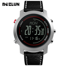 Bozlun MG03 Men Digital Wristwatches Mountain Altitude Pressure Sport Watch Countdown Compass Waterproof Relogio Masculino
