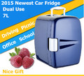 2015 Newest Mini Car Fridge Portable Car Refrigerator Travel Car Cooler Box 12V Dual Use Office Mini Fridge For Gift