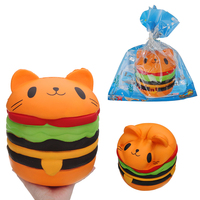 20cm Big Cat Burger for Squishy Jumbo Kawaii Squishies Slow Rising toy Soft Giant Squeeze Toy Collecte Gift for Kids funny toy