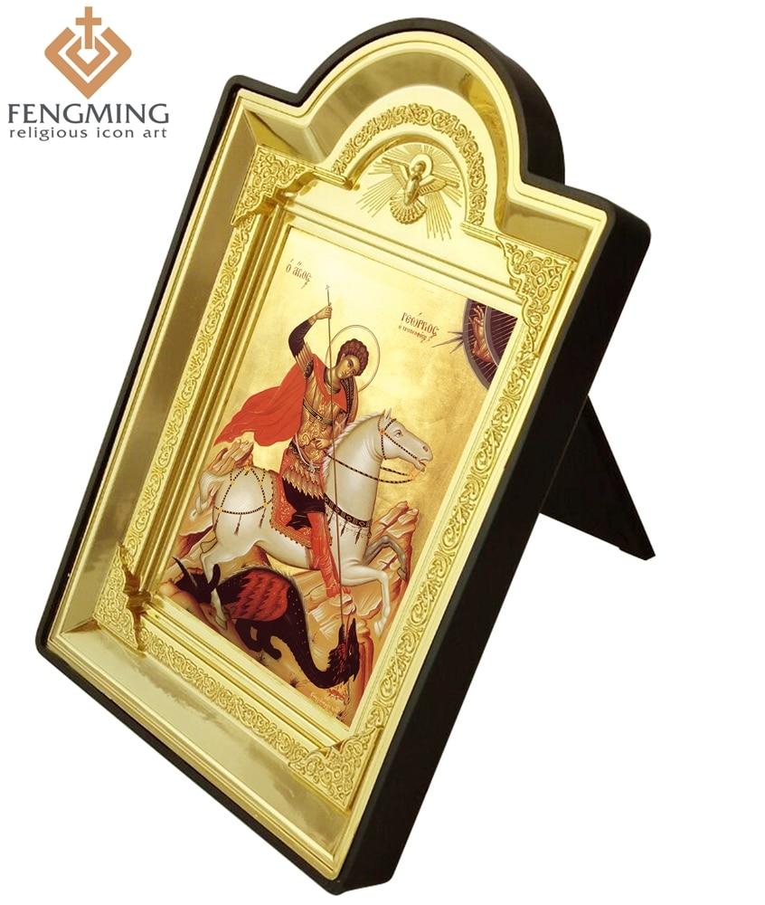 2016 fashion greek orthodox bronzing plastic photo frame mascot 2016 fashion greek orthodox bronzing plastic photo frame mascot icon of saint george catholic religious gifts christian simbol in frame from home garden jeuxipadfo Gallery