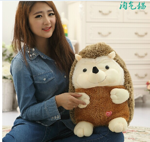 lovely boy hedgehog toy plush cartoon hedgehog doll hedgehog toy birthday gift about 40cm lovely giant panda about 70cm plush toy t shirt dress panda doll soft throw pillow christmas birthday gift x023
