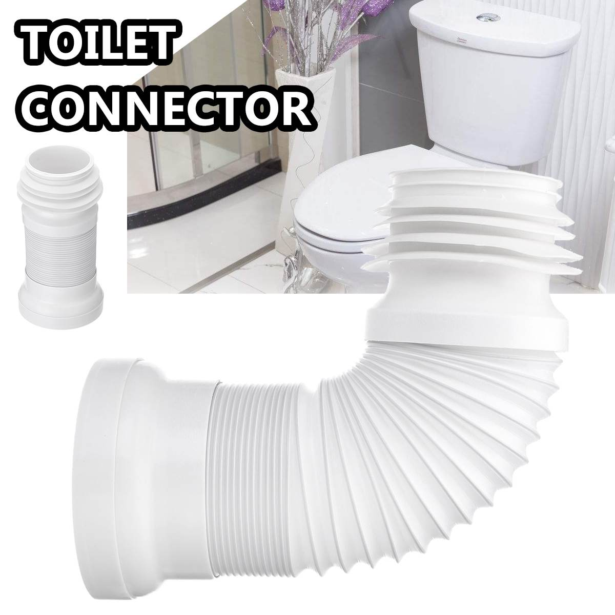 23-50cm PVC Retractable Toilet Bowl Displacement Shifter Sewer Sewage Plumbing Hoses Water Pipe Connector Hose