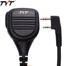 Sobre las remoto IP54 impermeable hombro micrófono altavoz para TYT MD-380 MD-390 TH-UV8000E Wouxun $TERM impacto Baofeng UV-5R UV-82 Radio Walkie Talkie(China)