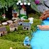Vintage Craft Hot Sale 1PC Artificial Mini Micro Landscaping Miniature House Popular Garden Decoration Home Decoration 2